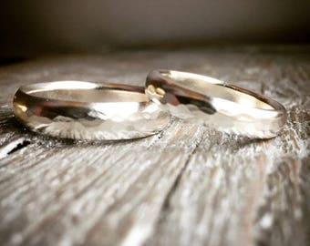 Wedding Rings Sterling Silver or Gold Handmade Wild Prairie Silver Jewelry Joy Kruse