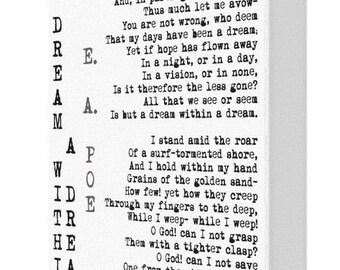 A Dream Within A Dream Edgar Allan Poe Canvas Print