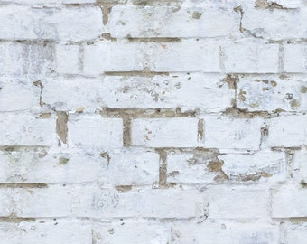 Old White Brick Wall Wallpaper