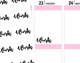 Work Planner Stickers, Work Stickers, Typography Stickers, Font Stickers, Script Stickers