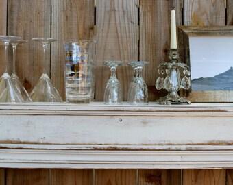 "Floating Wood Mantel - Home Decor - Wet Bar - Shelf - Ledge - Shabby 60"" Long x 10"" Deep - Ledge"