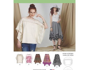 Simplicity Sewing Pattern 8135 Misses' Easy-to-Sew Skirt in Three Lengths and Tunic