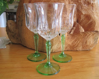 Trio of Crystal Champagne Glasses - Item #1676