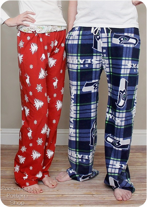 Hit the Hay Pajama Pants: Adult Pajama Pants Sewing Pattern for Women and Men