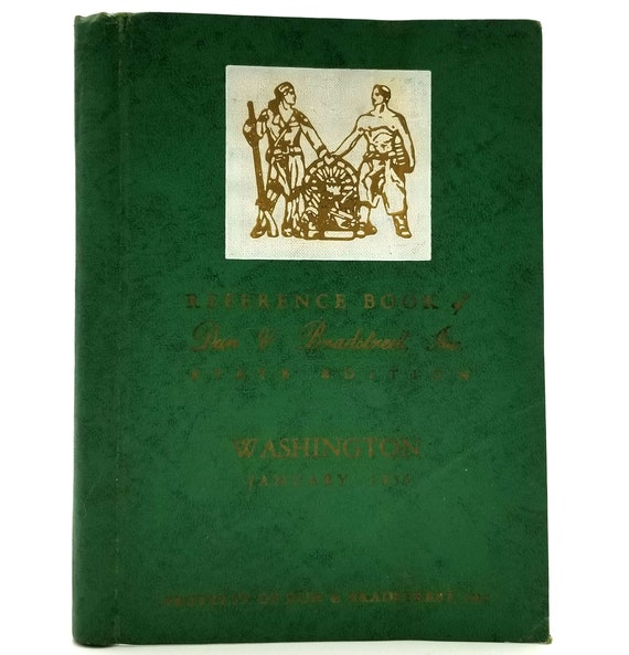 Reference Book of Dun & Bradstreet Inc. State Edition: Washington January 1956 Hardcover HC (Limp Bound)