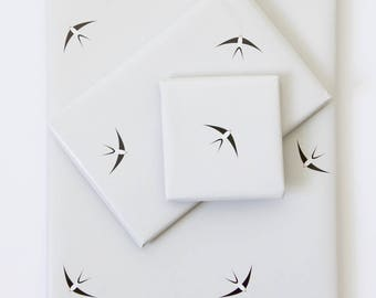 Wrapping Paper - Flying Swallows - 4 SHEETS A2