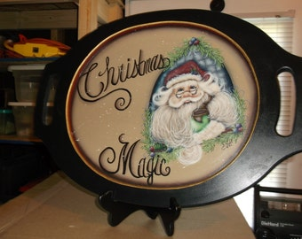Hp wooden platter, Holidays, Christmas