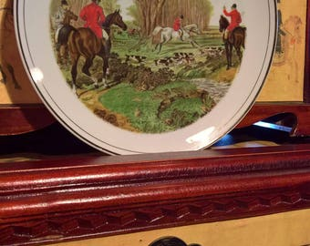Vintage Fox Hunters Collectible Plate/Roma