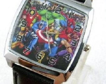Marvel Watch The Avengers Super Heroes (Incredible Hulk, Thor, Captain America, Spiderman)