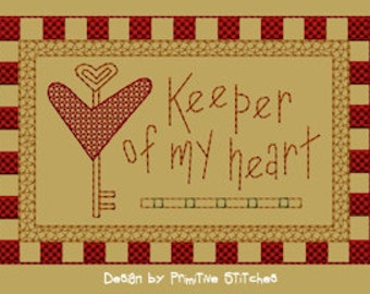 MACHINE EMBROIDERY-Keeper Of My Heart-Block-2-Colorwork-5x7-Instant Download