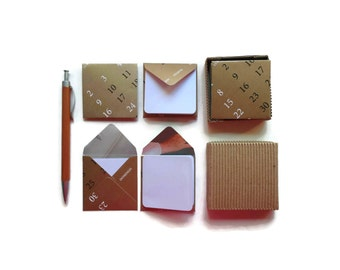 Almanac Envelopes, Cute Golden Stationery Set, Blank Note Cards, Mini Note Cards Set, Thank YouSet of 12, Greeting Cards, Gift Under 15