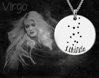Virgo Zodiac Necklace | Virgo Necklace | Astrology Necklace | Personalized Gifts | Korena Loves
