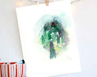 Forest Painting, Watercolor Print, Landscape, Fine Art, Floral, Modern Art, Ink, Minimalist, Garden Floral, Abstract Art, Bohemian