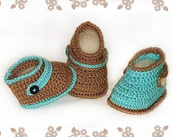 Crochet patterns - Baby booties -  crochet booties pattern - crochet shoes - boys bootс - girls baby shoes - classic style boots