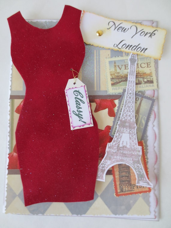 Items Similar To Card Handmade Fashion Card Diva Red