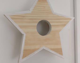 STELLA LILY WOOD Wood star Wall Sconce