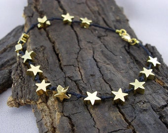 Bracelet Black Stars Rain star gold