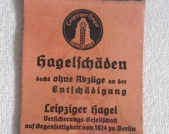 Old Notepad-Leipzig hail insurance company Berlin-at 1925