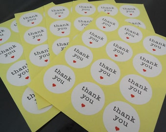 Thank You Sticker - Thank You Stickers Round White Thank You Words with Love Label Sticker Seal Envelope Stickers Wedding Favors