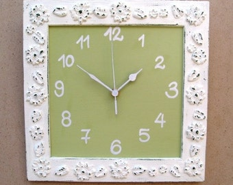 Wall Clock Cream Shabby Chic wall decor