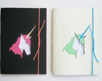 SET 2 NOTEBOOKS theme unicorns