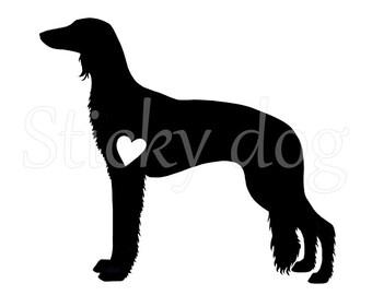 Saluki silhouette sticker