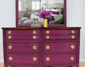 Mahogany Federal Style Dresser with Mirror