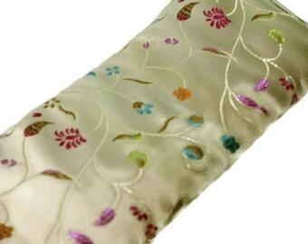 Lavender  Eye Pillow - Cream Floral Brocade