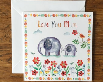 Love you mum - Greeting Card