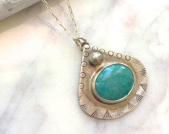 Stamped Turquoise necklace small turquoise necklace, Turquoise Guitar Pick Necklace, Turquoise Triangle Necklace delicate Turquoise necklace