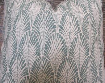 Designer Pillow Cover - LFPS Scallop Eucalyptus
