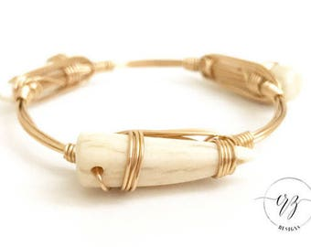 Antler Wire Bangle, Bangle, Bracelet, Bourbon and Boweties Inspired