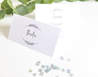 Place Cards | Personalised Place Cards | Tented Place Cards | Place Cards | Wedding Place Cards | Event Cards | Printed Names