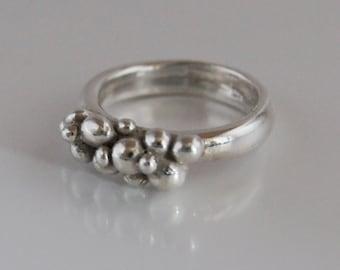 Ring Silver Balls R136