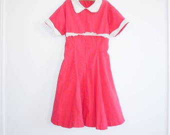 Vintage Red Girl's Dress