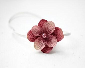 Simple Rose Pink Flower Newborn Headband