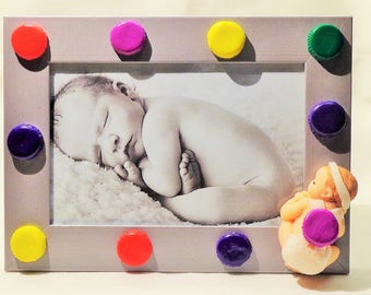 Picture frame Baby Macaroons Fimo