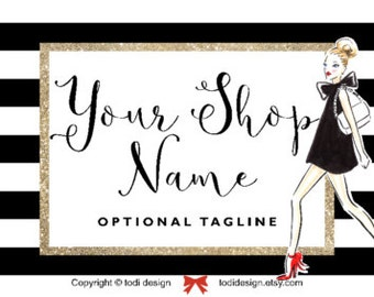 Fashion Chic Etsy Cover Photo  and Shop Icon Design