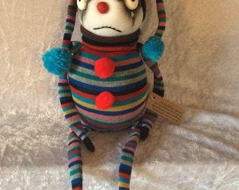Clown sock doll