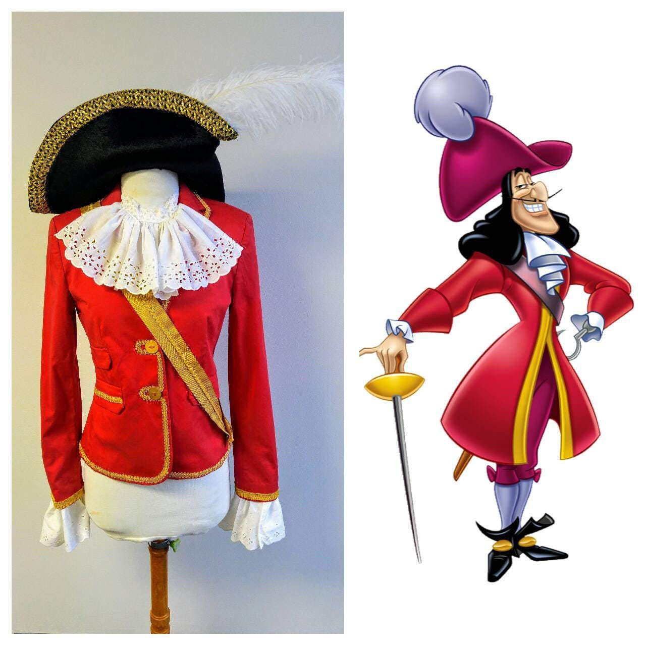 Costume de peter pan upcycled custom capitaine crochet pirate - Peter pan et capitaine crochet ...
