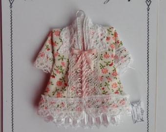 Dollhouse Miniature 1/12th childs dress/coat on hanger