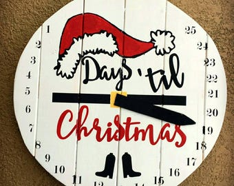 Count down to Christmas. Seasonal Decor, Advent Calendar- Handmade to Order