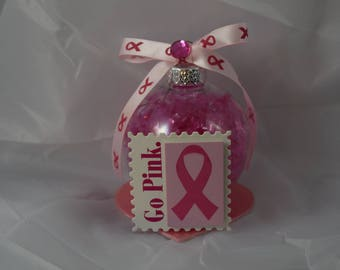 "Breast Cancer Awareness ""Go Pink"" Ornament"