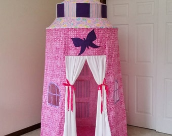 princess play tent pink castle tent fabric playhouse for kids pink princess castle