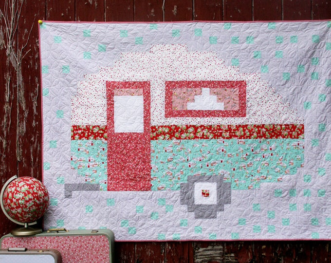 Pixelated Camper Quilt PDF Pattern DOWNLOAD