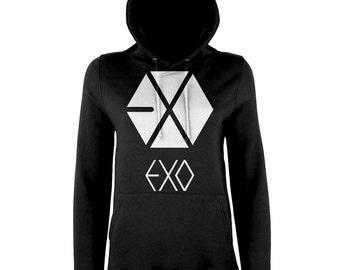 EXO XOXO Kpop Hoodie Sweater Korean Fan Hoodie Fanmade Sweatshirt for Diehard kPop Fans