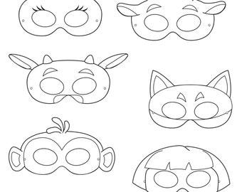 Woodland Forest Animals Coloring Masks woodland animal mask
