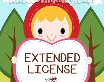 EXTENDED LICENSE for Commercial Use without credit - Digital Clip Art Products