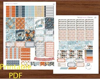 Dark Fall PDF / printable pdf / INSTANT DOWNLOAD / eclp pdf / print at home / dark fall sticker kit / weekly stickers / fall stickers