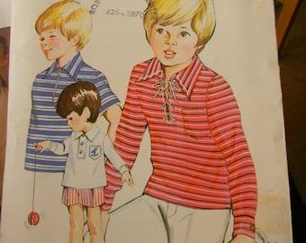 Vintage Kwik Sew Boys Shirt Pattern #429 Uncut